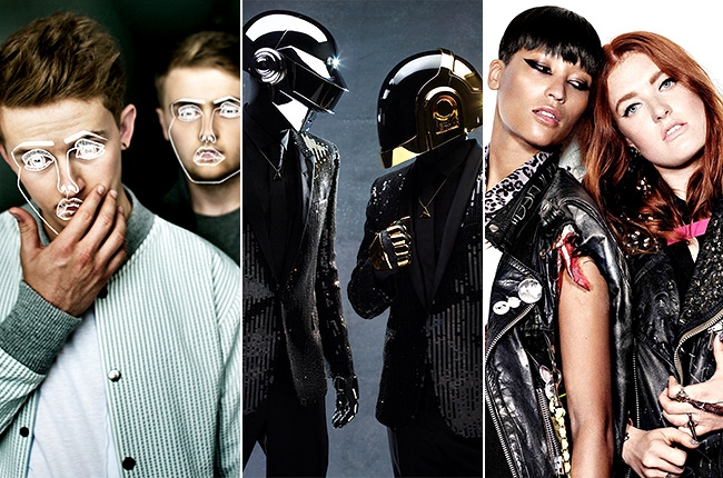 Disclosure, Daft Punk, Icona Pop: photo courtesy of Billboard.com