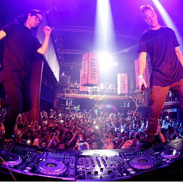 Jack Ü killing it at Amnesia! Photo Cred: Diplo's Instagram